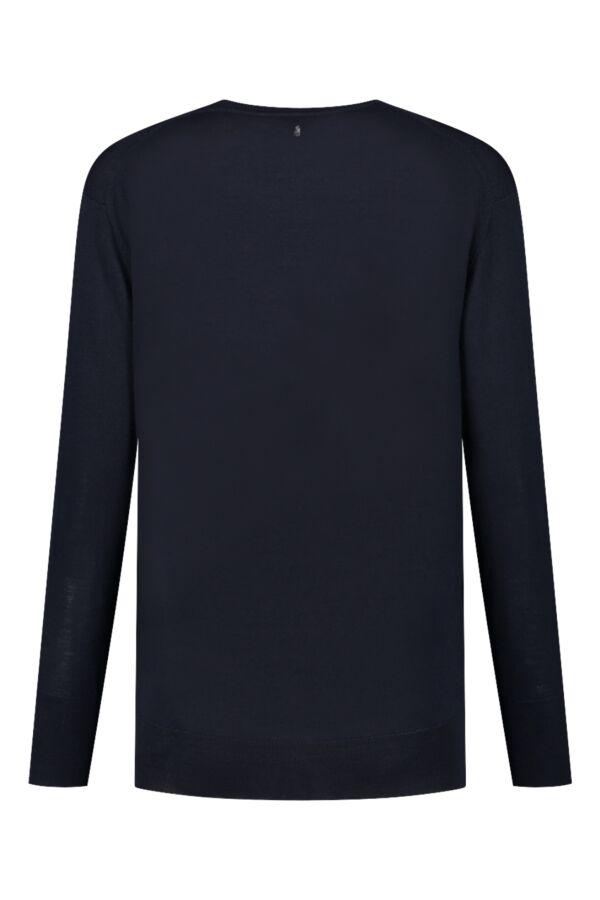 Filippa K Merino V-Neck Sweater Navy - 25304 2830