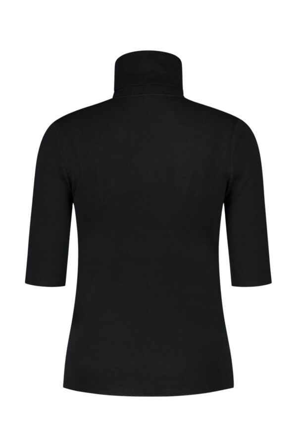 Filippa K Merino Elbow Sleeve Top Black - 25307 1433
