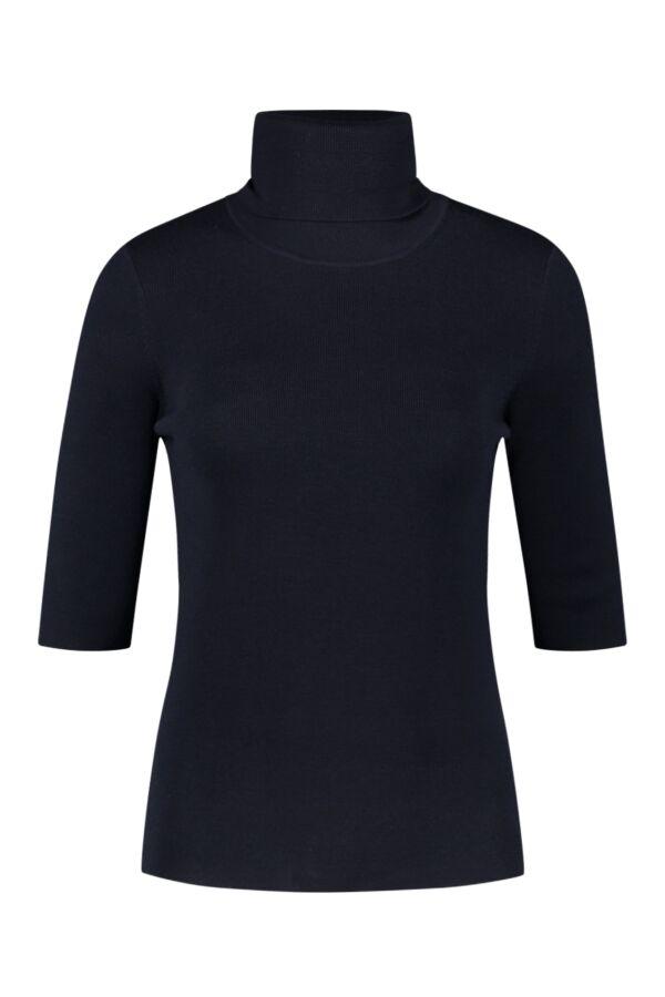 Filippa K Merino Elbow Sleeve Top Navy - 25307 2830