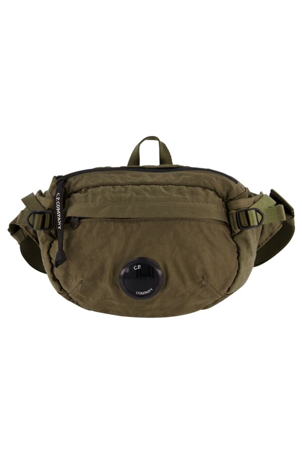 C.P. Company Garment Dyed Nylon Sateen Waist Bag Dusty Olive - 07CMAC198A 005269