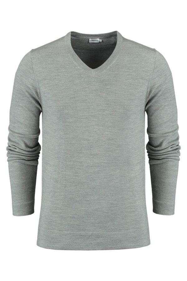 Filippa K Merino V-Neck Sweater Grey Mel. - 25966 1448