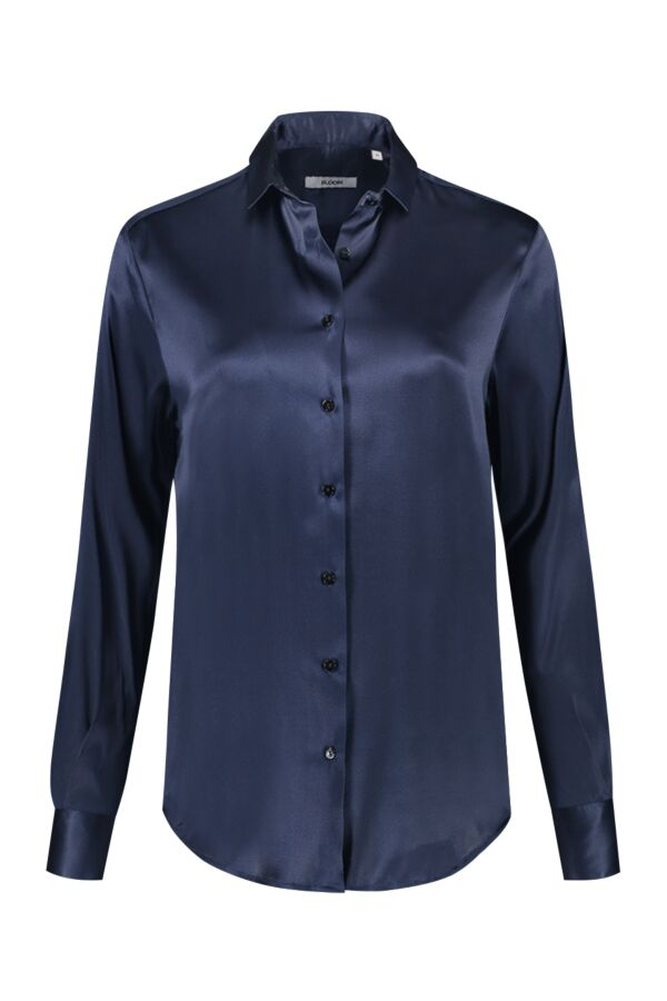 Bloom Fashion Blouse Zijde Donkerblauw - 1107 55149 007