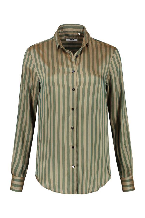 Bloom Fashion Blouse Streep Groen - 1107 55213 001