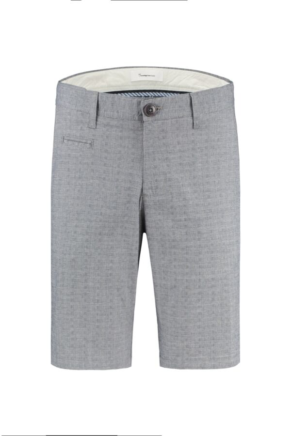 Knowledge Cotton Apparel Chuck Regular Checked Shorts Total Eclipse - 50193 1001