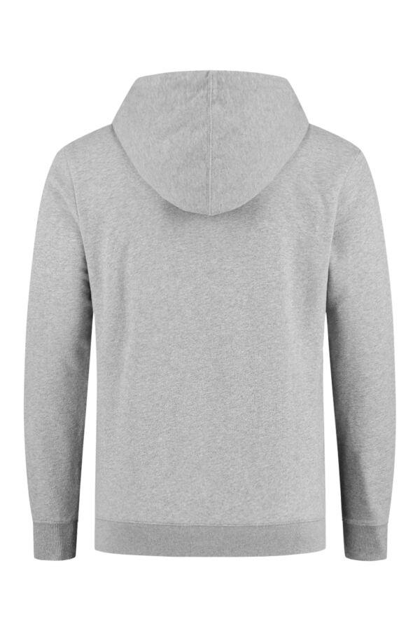 Knowledge Cotton Apparel Hooded Sweatvest Grey Melange - 30186 1012