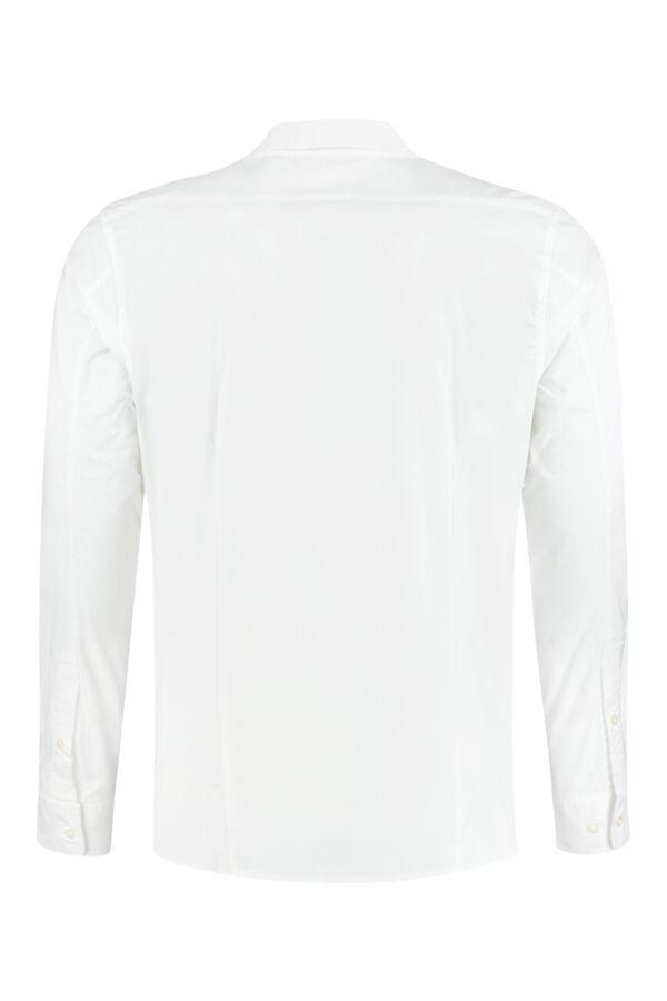Knowledge Cotton Apparel Small Owl Oxford Shirt Bright White - 90822 1010
