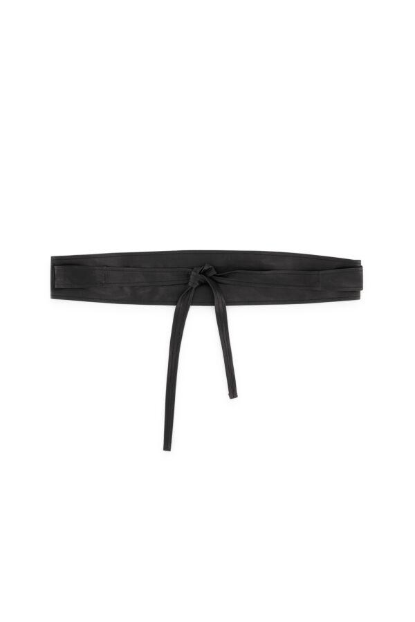 Enes Pascale Leather Belt Black