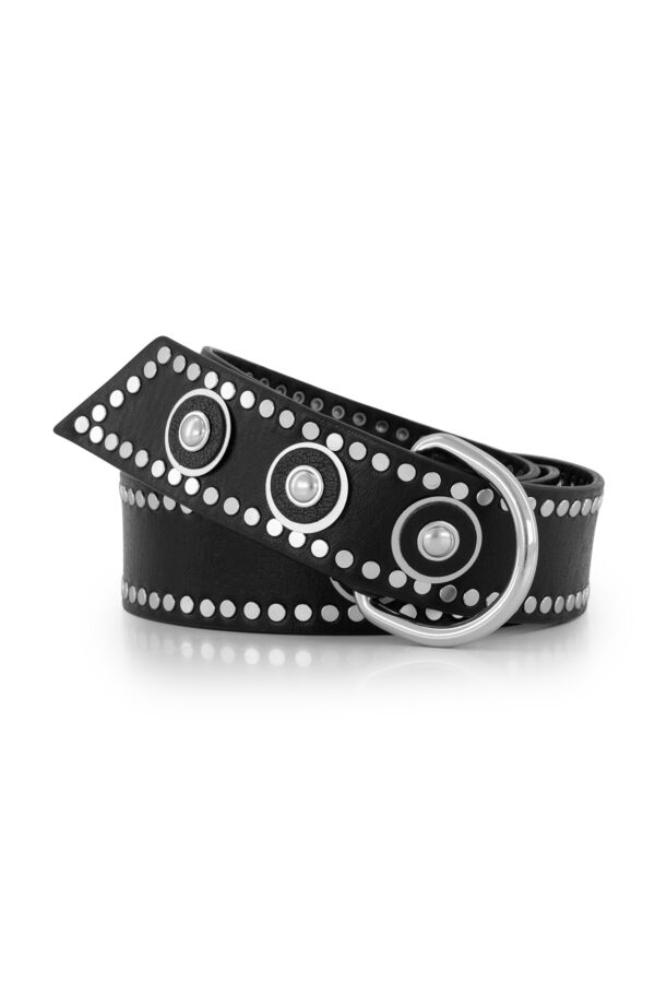 the Kaia Dolly Leather Belt Black