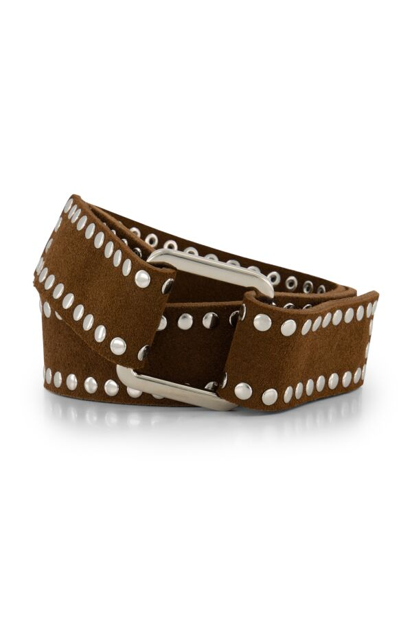 the Kaia Suzy Suede Belt Tobacco