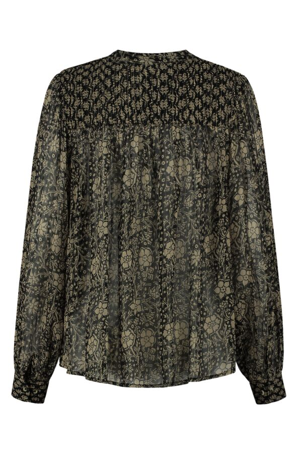 Leon and Harper Chagrin Blouse Carbone