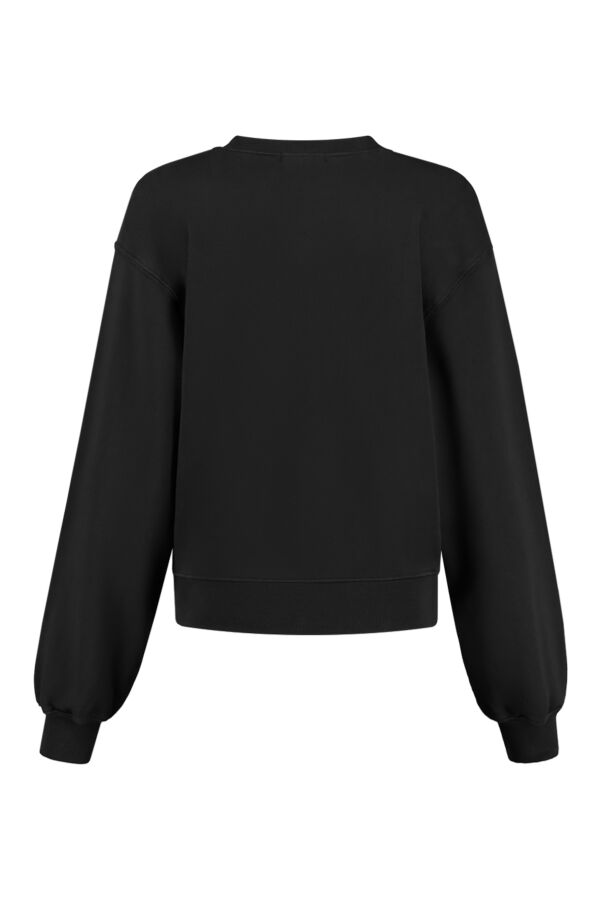 Agolde Low V-Neck Balloon Sleeve Sweater Black - A7057 Blk