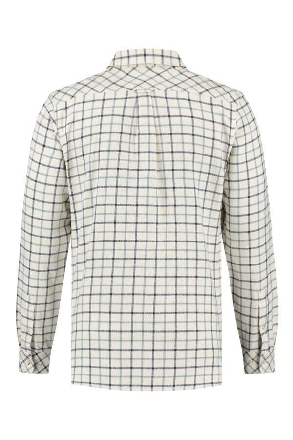 Knowledge Cotton Apparel Big Checked Flannel Shirt Winter White - 90832 1070