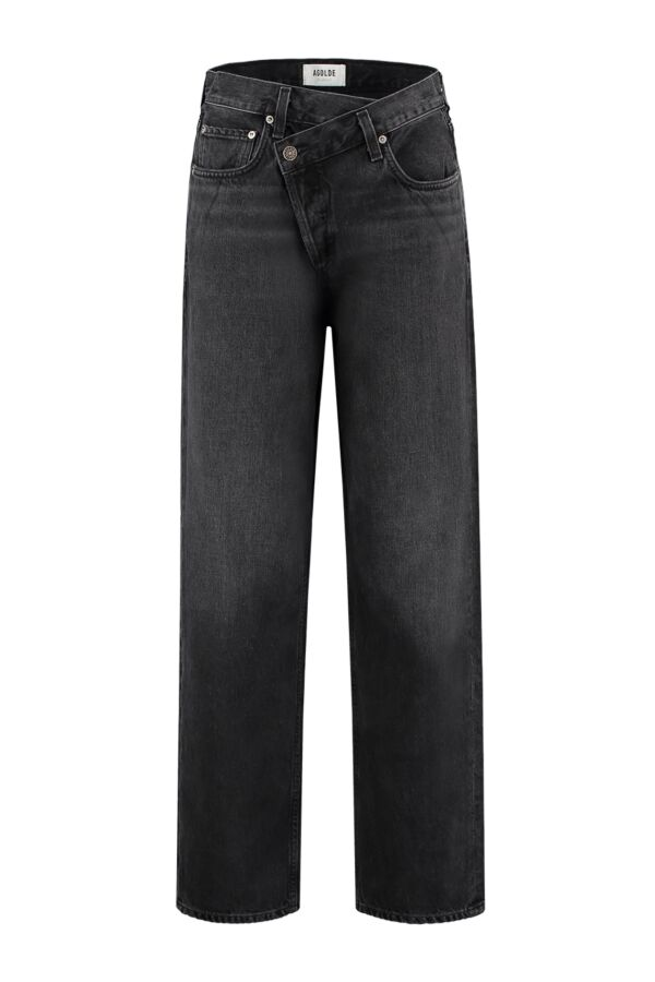 Agolde Jeans Criss Cross Jean Savage A097 1157 Black High Waist
