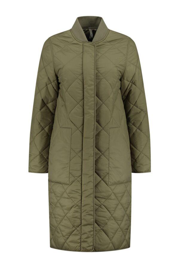 Closed Posy Coat Green Umber - C97178 68K 22 652