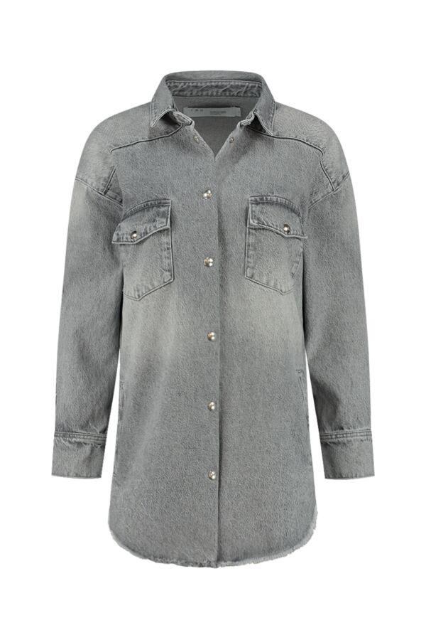 Iro Paris Ygga Shirt Steel grey WP18YGGA Denim Shirt