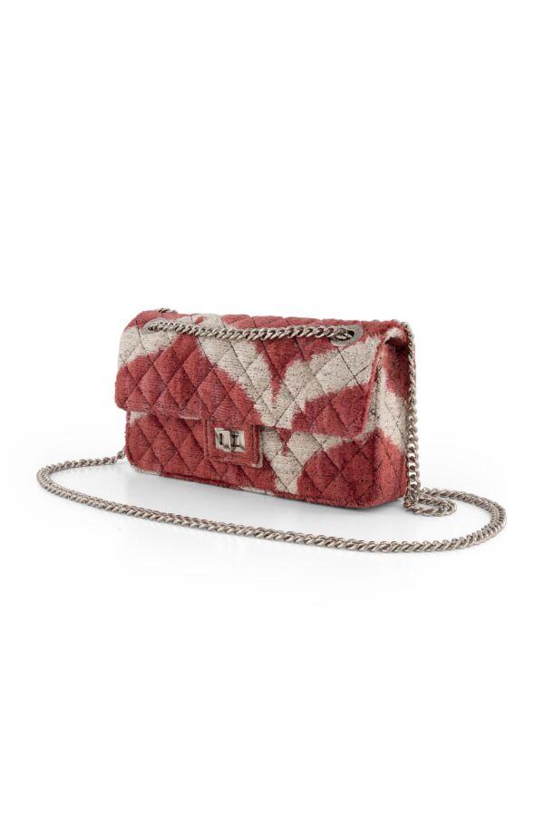 Rough Studios Velvet Bandita Bag Red Beige