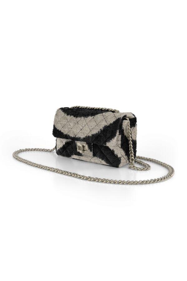 Rough Studios Mini Velvet Bandita Bag Black Beige