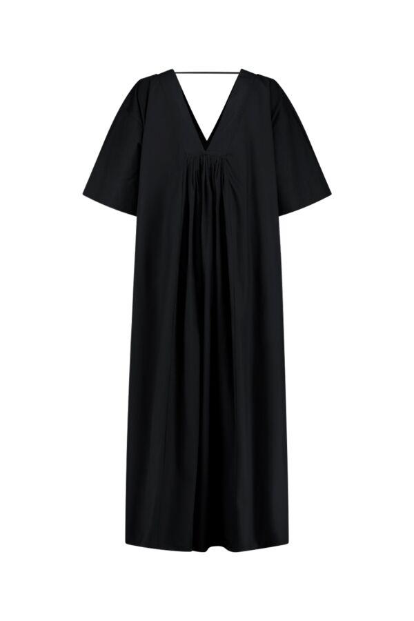 Sea Me Happy Dress Cotton Black