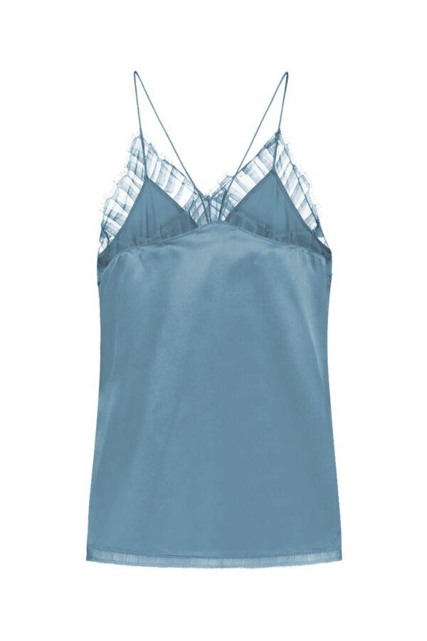 Iro Paris Berwyn Top Denim Blue - WM16BERWYN