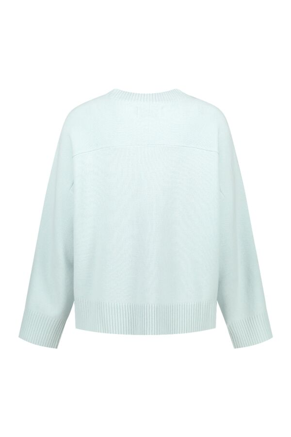 One and Other Bonnie Pullover Ice Blue Melange - SS213008 E05