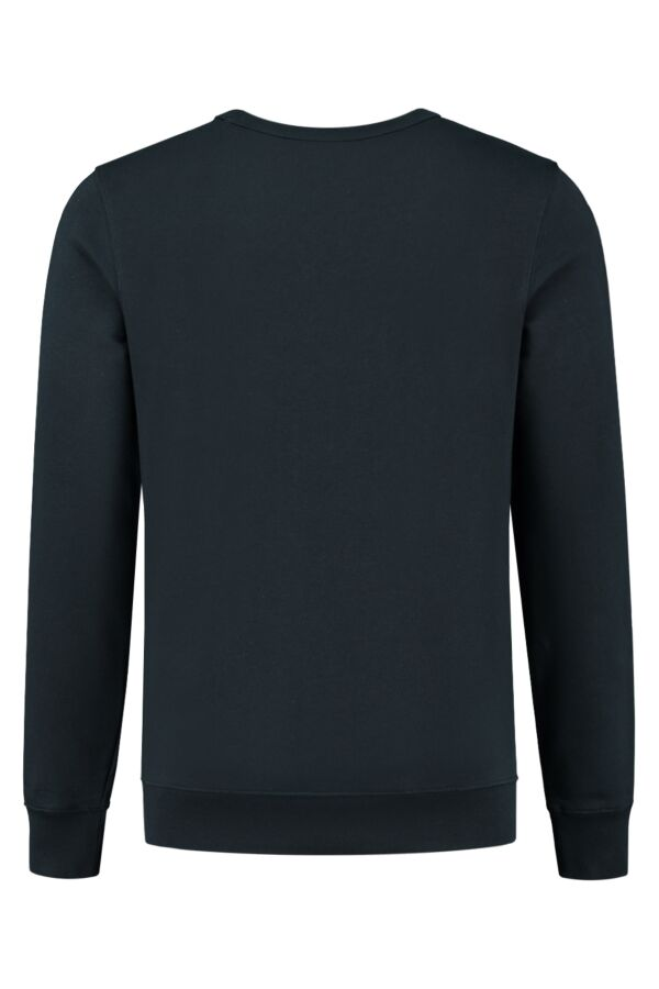 Knowledge Cotton Apparel Elm Basic Badge Sweater 30518 1001 Total Eclipse