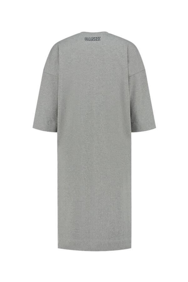 Ganni Relaxed T-Shirt Dress Paloma Melange - T2787 3492 921