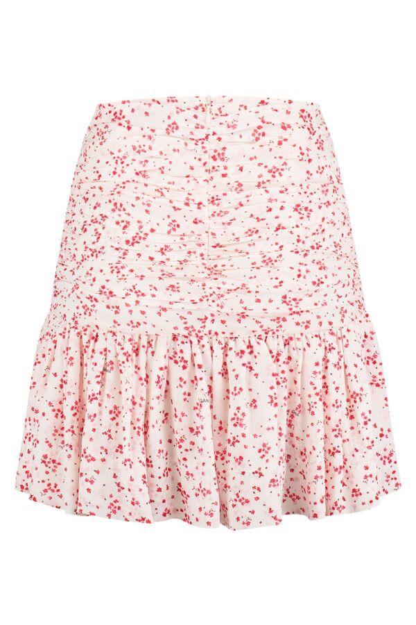 Ganni Printed Georgette Skirt Egret - F5880 6171 135