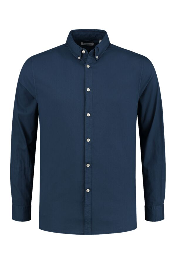 Knowledge Cotton Apparel Larch Cord Shirt Dark Denim - 90864 1188