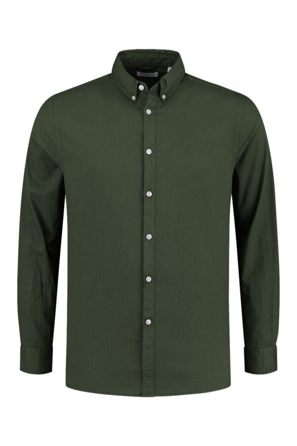 Knowledge Cotton Apparel Larch Cord Shirt Forrest Night - 90864 1090