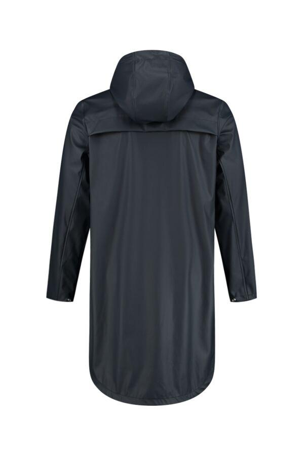Knowledge Cotton Apparel Lake Long Rain Jacket Total Eclipse - 92427 1001