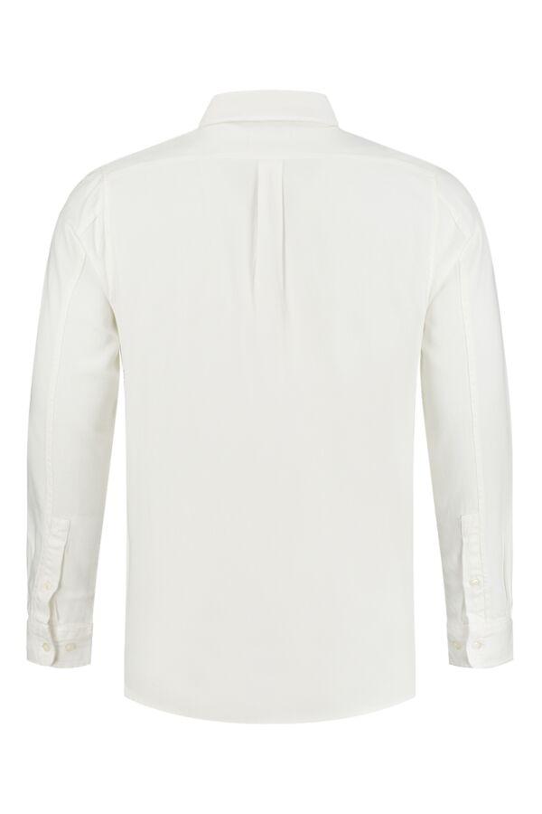 Knowledge Cotton Apparel Larch Tencel Shirt Bright White - 90686 1010