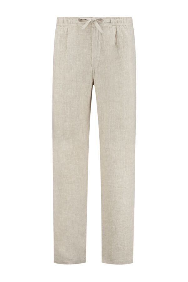 Knowledge Cotton Apparel Fig Loose Linen Pants Light Feather Gray - 70239 1228