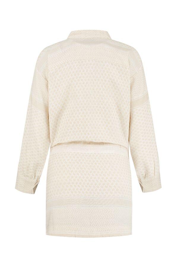 Rough Studios Leila K. Dress Beige White