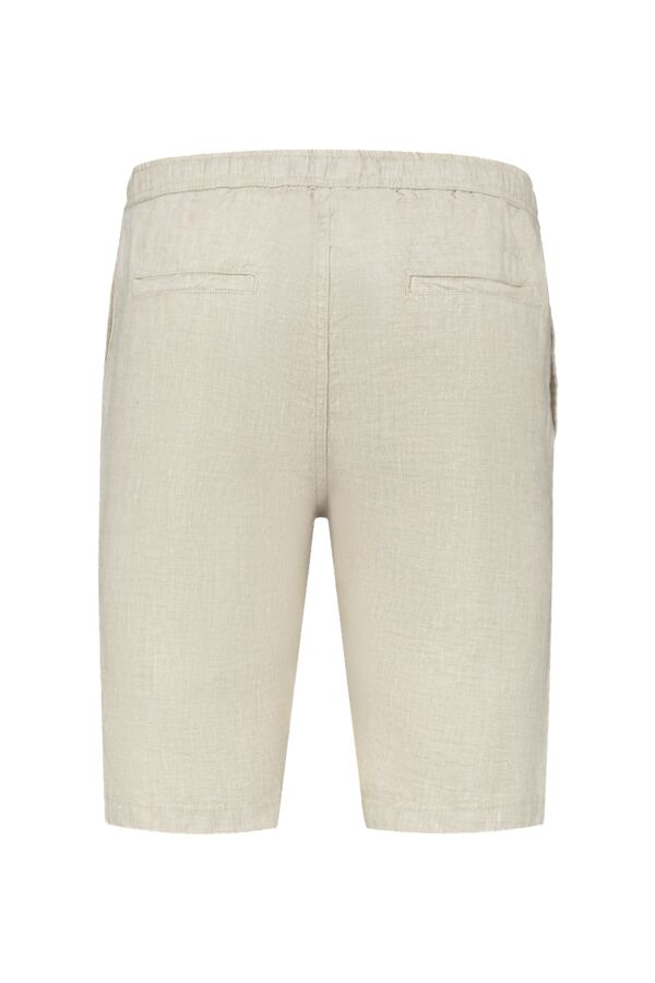 Knowledge Cotton Apparel Fig Loose Linen Shorts Light Feather Gray - 50181 1228