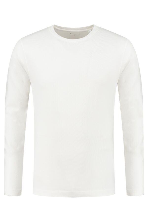 Knowledge Cotton Apparel Locust Longsleeve Bright White - 12013 1010