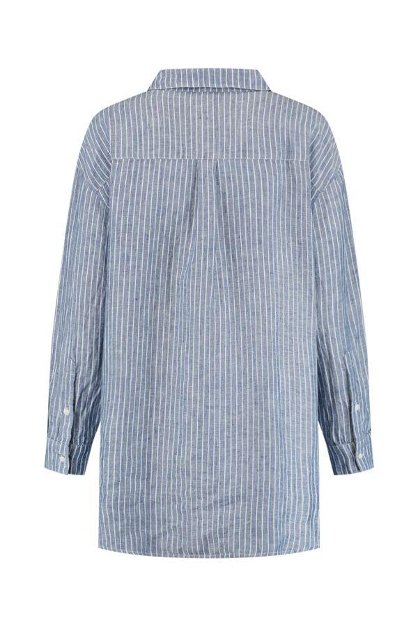 Denham Jeans Olivia Shirt LINST Stonewash Blue Stripe - 02-21-05-40-080