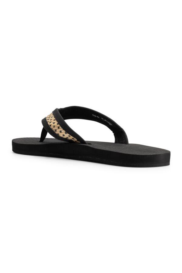Indosole Flip Flop Weave Black Batit Light- 622001023F