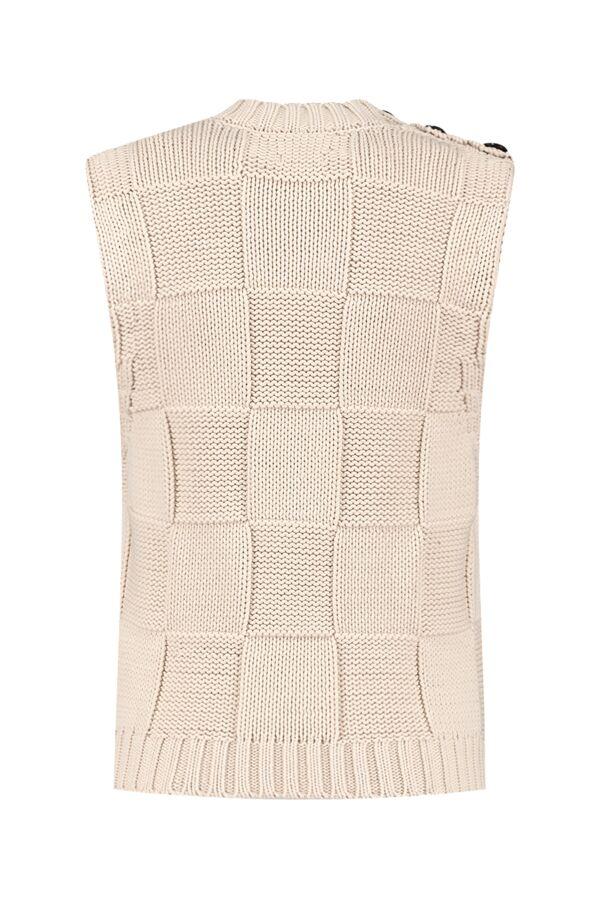 Ganni Cotton Rope Knit Spencer Brazilian Sand - K1578 2530 196