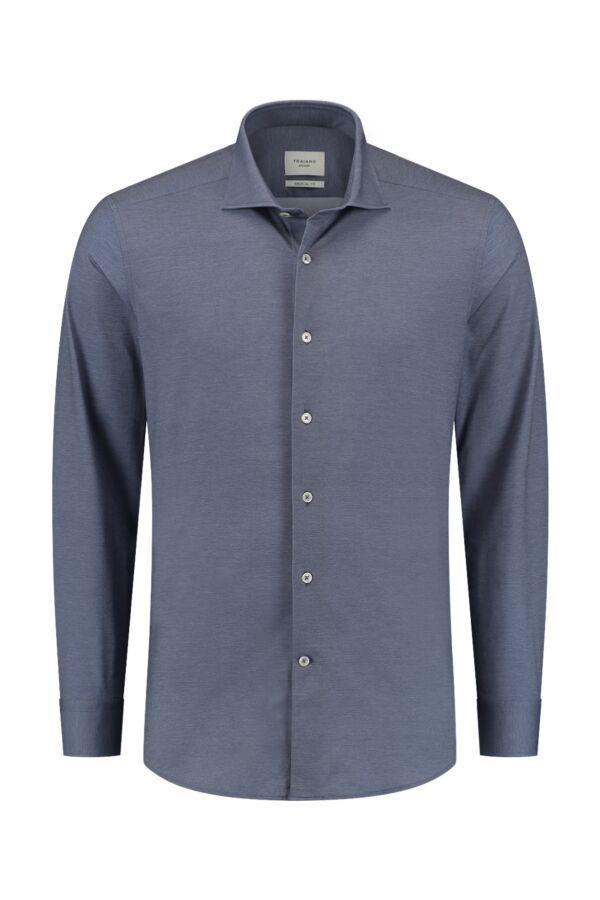 Traiano Rossini Regular Fit Shirt Dark Blue - TCG04S TS09 TBL3