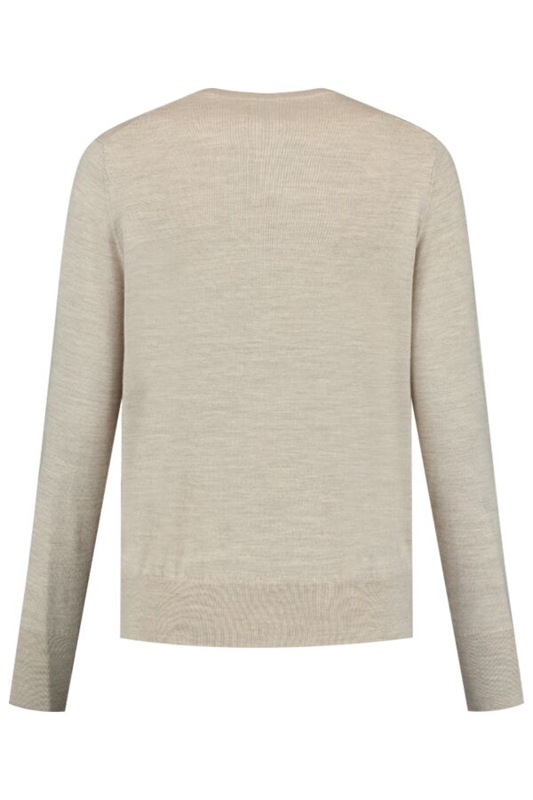 Filippa K Merino R-Neck Sweater Beige Melange - 25303 8285