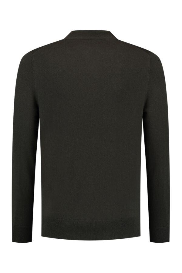 Filippa K M. Knitted Polo Shirt Beluga - 25977 7987