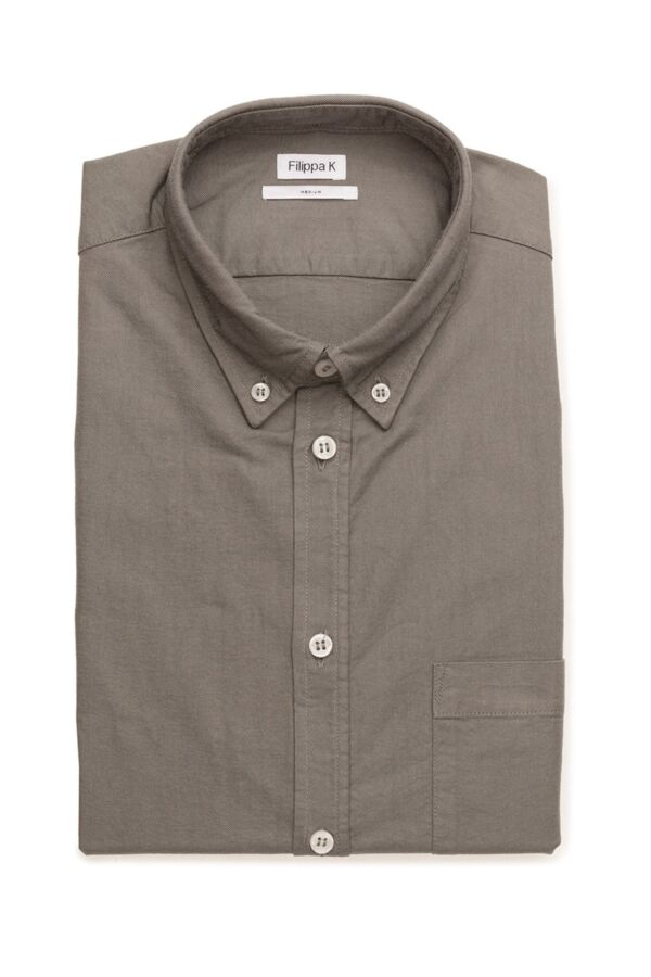 Filippa K M. Paul Oxford Shirt in Dusty Green - 15099 6796
