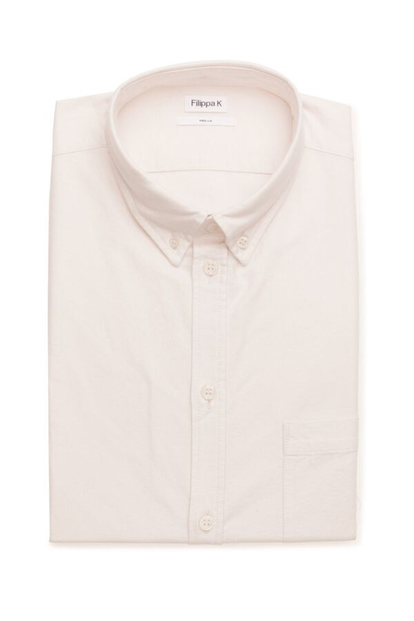 Filippa K M. Paul Oxford Shirt in Bleached Pink - 15099 6757