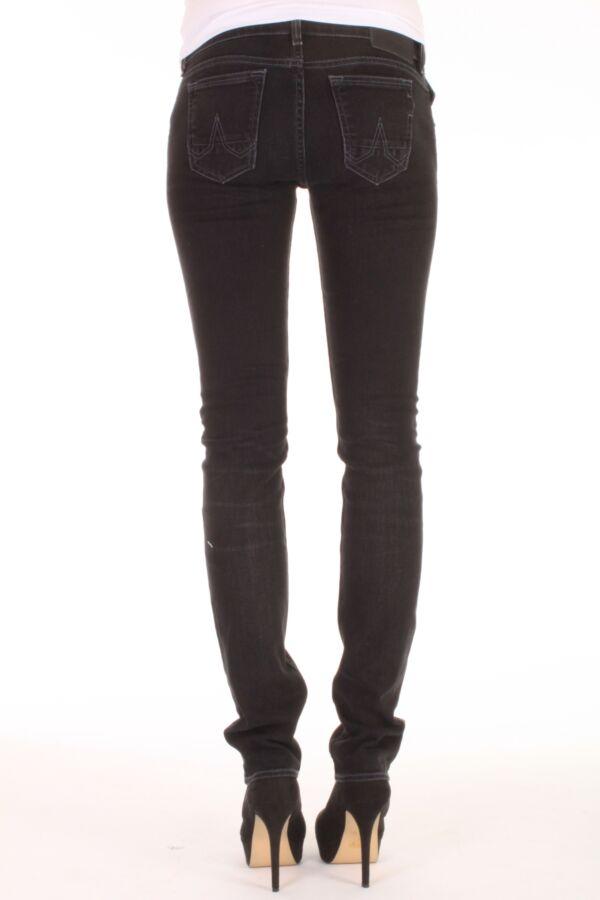 Kuyichi jeans model Lisa in de kleur zwart bruised.