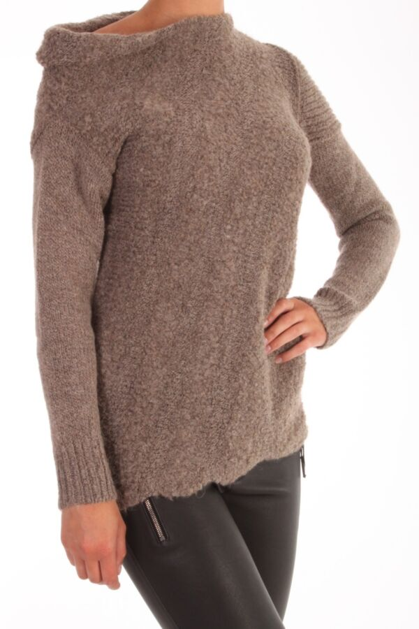 Patrizia Pepe oversized sweater Alpaca blend 2M2934 AT99 storm gray.
