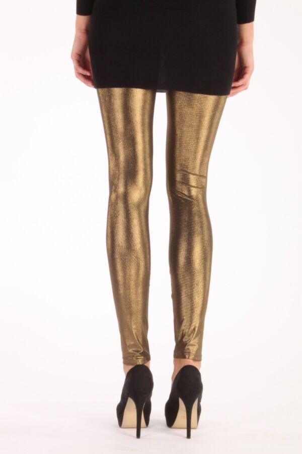 Patrizia Pepe leggings 4P0174 AU73 Y224 in Golden Purple.