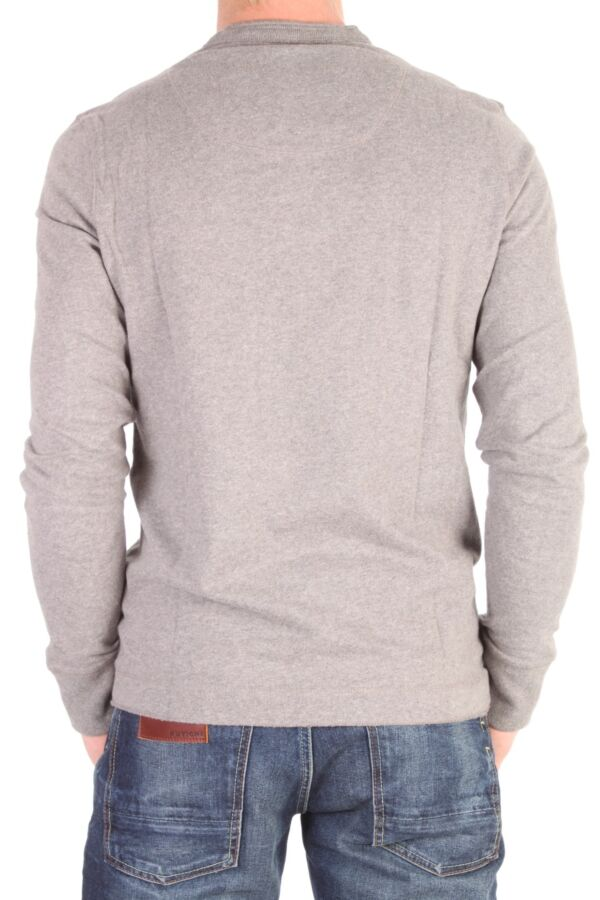 Superdry Chariot Long Sleeve Button Crew T-Shirt MS6HH228F2 Dark Marl.