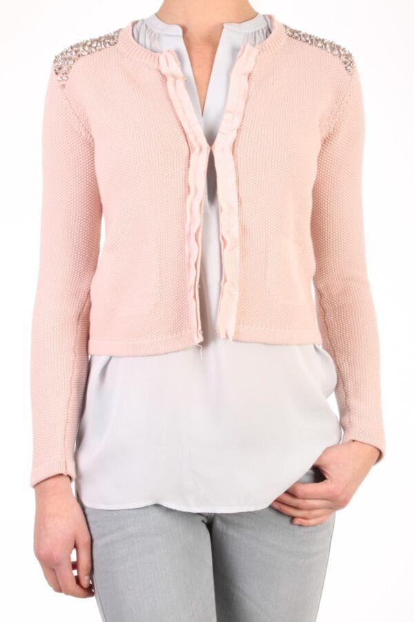 PINKO Pero Vest in Rosa Cammeo - 1T102NZ1G9 N34